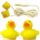 Ear Buds Earphones Yellow Duck