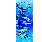 3-D Bookmark Dolphins