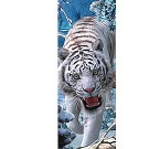 3-D Bookmark Snow Tiger