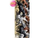 3-D Bookmark Horses