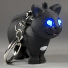 Led Keychain Black Cat