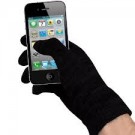 Touch Screen Gloves Cotton Black L